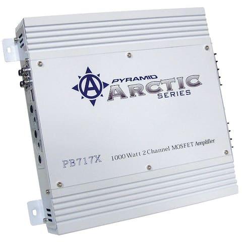 Pyramid pb717x amplifier pyramid 1000watt 2 channel;arctic series
