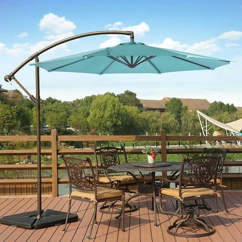 Weller 10' Offset Cantilever Hanging Patio Umbrella, Base Not Included