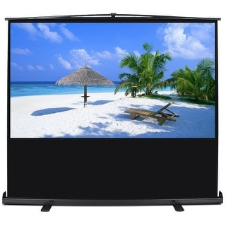 """Arksen Projection Home Entertainment HD Movie Theater 80"""" w/Aluminium Case 16:9 Ratio Manual Pull Up Screen"""