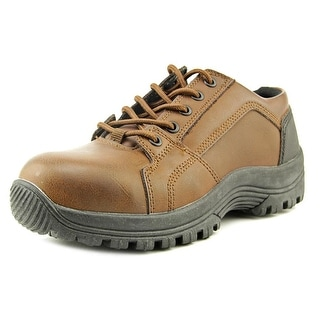 HyTest by Wolverine Guardsman Oxford Youth Steel Toe Leather Brown Work Shoe