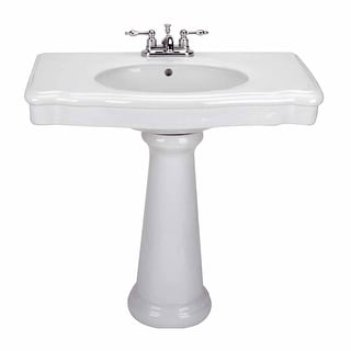 Old Pedestal Sink Bathroom Console White China Darbyshire Renovator's Supply