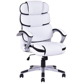 Costway Ergonomic PU Leather High Back Executive Computer Desk Task Office Chair White  sc 1 st  Overstock.com & Ergonomic Chairs - Shop The Best Deals for Nov 2017 - Overstock.com islam-shia.org
