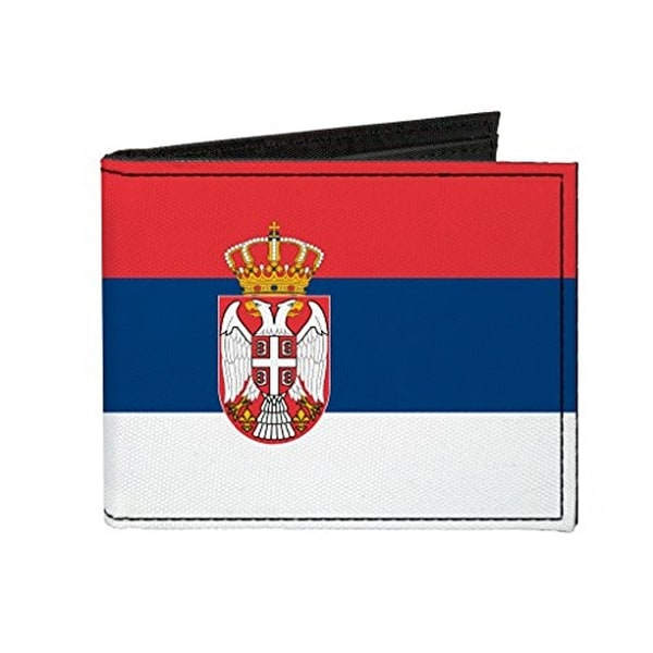 Buckle-Down Canvas Bi-fold Wallet - Serbia Flag Accessory