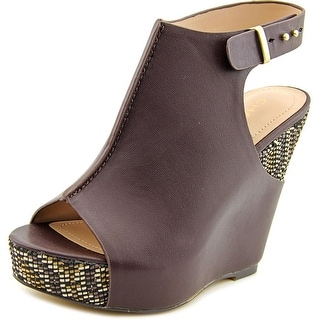 Charles By Charles David Ames Women Open Toe Synthetic Brown Wedge Sandal