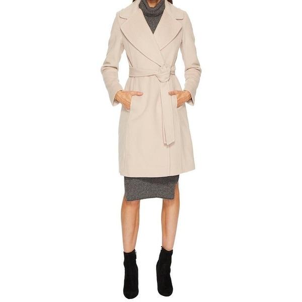 Diane Von Furstenberg Amelie Camel Wool Wrap Coat. Opens flyout.