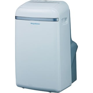 Keystone KSTAP14B 14,000 BTU 115V Portable Air Conditioner w/ Follow Me LCD Remote Control - White
