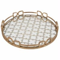 Remarkable Round decorative Tray, Gold