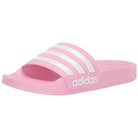 adidas Unisex Adilette Shower, True Pink/White/True Pink, 5 M US Big Kid