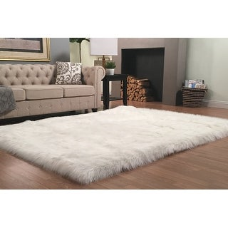 Link to Silver Orchid Nansen Luxurious Faux Sheepskin Shag Area Rug Similar Items in Shag Rugs