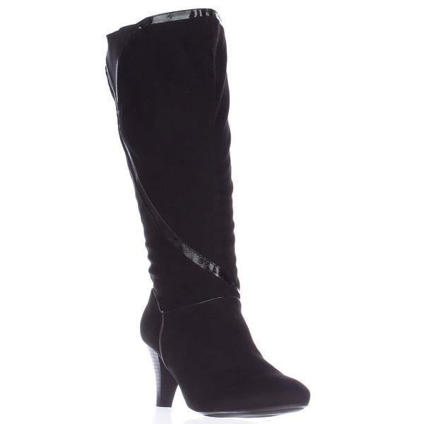 KS35 Mailaa Mid Calf Fashion Boots, Black
