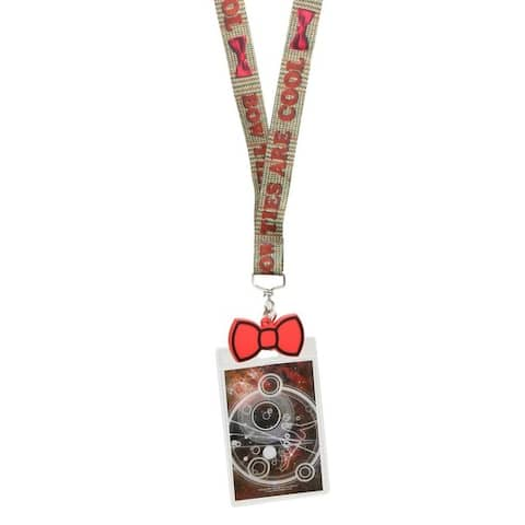 "Doctor Who Lanyard: ""Bow Ties Are Cool"" with 2D Bow Tie Charm - Multi"