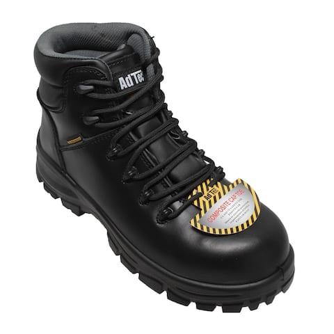 Women Waterproof Work Boot Composite Toe Black
