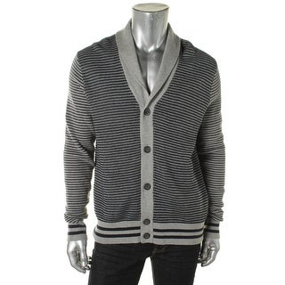 Tommy Hilfiger Mens Cotton Open Stitch Cardigan Sweater - M
