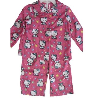 Hello Kitty Little Girls Pink Kitty Star Print 2 Pc Pajama Set 2T-4T (3 options available)