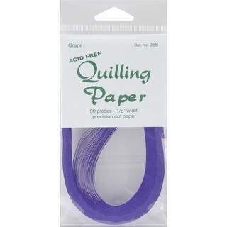 "Quilling Paper .125"" 50/Pkg-Grape - Purple"