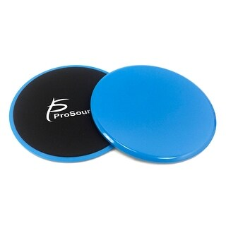 ProSource Core Sliding Exercise Discs, Dual-Sided Sliders for Full-Body Workouts, Set of 2-Blue - Blue