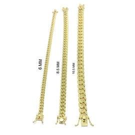 925 Sterling Silver Gold Plated Cuban Bracelet