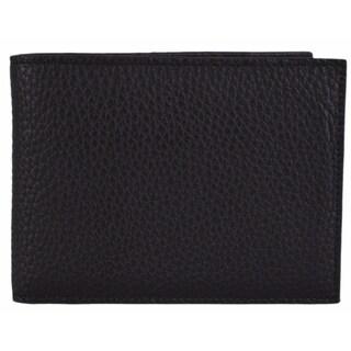 Bottega Veneta Men's Black Catalano Leather Bifold Wallet W/Coin Pocket