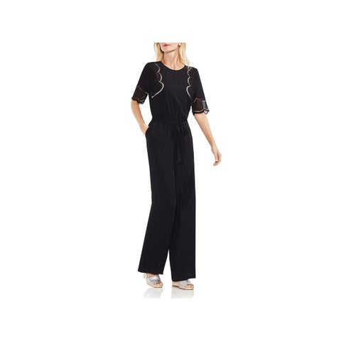 Vince Camuto Womens Jumpsuit Embroidered Officewear
