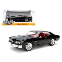 1970 Chevrolet Chevelle SS Black 1/24 Diecast Model Car by Jada