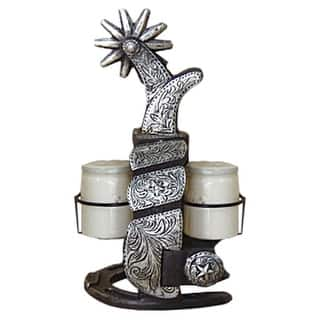 Gift Corral Western Decor Salt And Pepper Sets Spur Grey 87-1219|https://ak1.ostkcdn.com/images/products/is/images/direct/73c8fcaa00141edea795ba23896f05a3bb0c88b5/Gift-Corral-Western-Decor-Salt-And-Pepper-Sets-Spur-Grey-87-1219.jpg?impolicy=medium