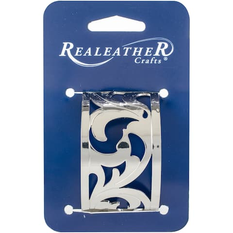 "Realeather Crafts Filigree Bracelet 1.5""-Chrome Francisco"