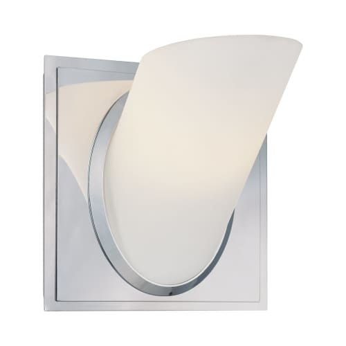 "Kovacs P5941 Angle Single Light 5"" Wide Bathroom Sconce with Etched Opal Shade"