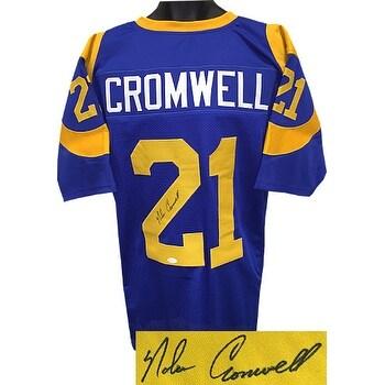 new concept 961aa 7eb04 Nolan Cromwell signed Blue TB Custom Stitched Pro Style Football Jersey XL  JSA Hologram