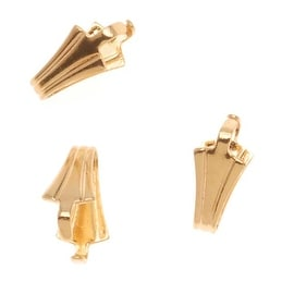 22K Gold Plated Pinch Bail For Stone & Crystal Pendants (10)