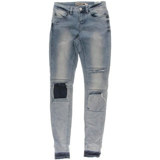 Noisy May Womens Lucy Destoryed Patchwork Slim Jeans - 26