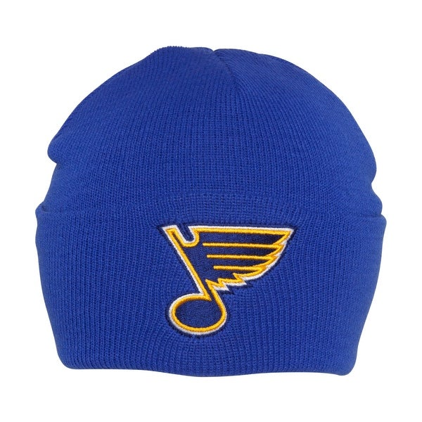 c172a47c4b7a27 Shop St Louis Blues NHL American Needle Basic Knit Beanie Hat - Royal Blue  - Free Shipping On Orders Over $45 - Overstock - 16948327