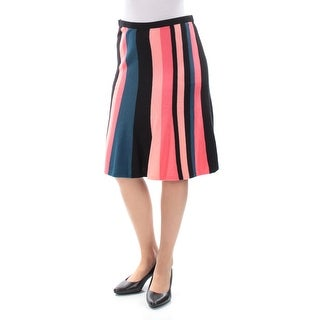 VINCE CAMUTO $69 Womens New 1095 Pink Striped Knee Length A-Line Skirt S B+B