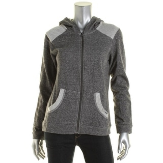 Head Womens Relaxed Heathered Zip-Front Hoodie