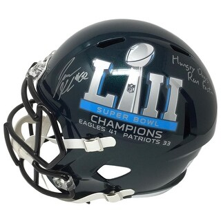 Jason Kelce Signed Eagles FS Super Bowl 52 Champs Replica Helmet Hungry Dogs JSA