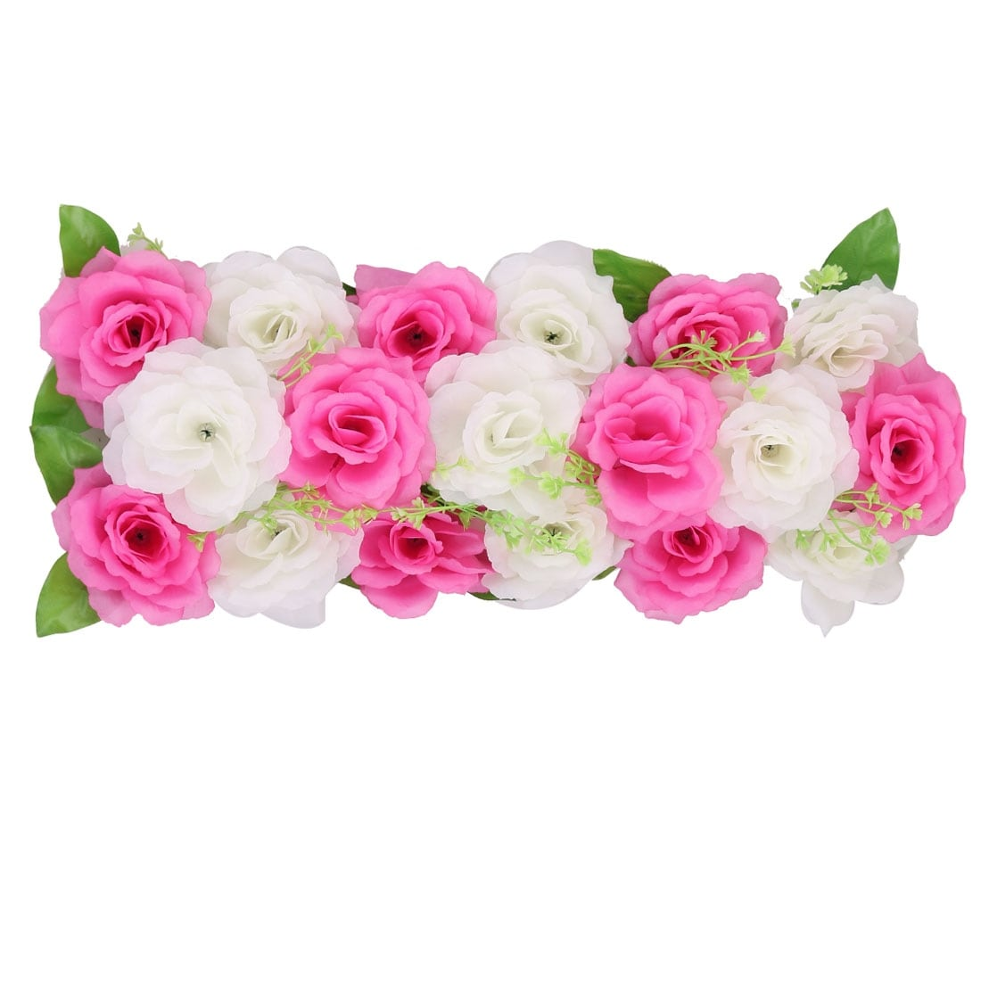 Wedding Party Fabric Diy Wall Arch Hanging Artificial Flower Garland Decor Dark Pink White On Sale Overstock 28960915