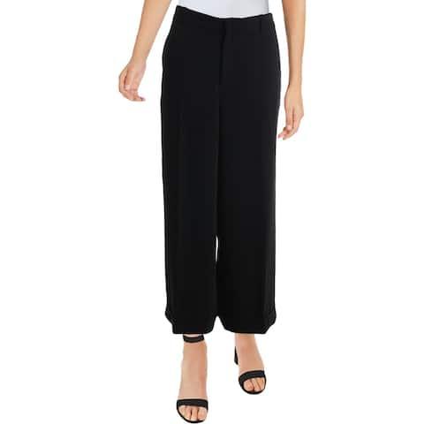 Lauren Ralph Lauren Womens Capri Pants Knit Cuffed - Black
