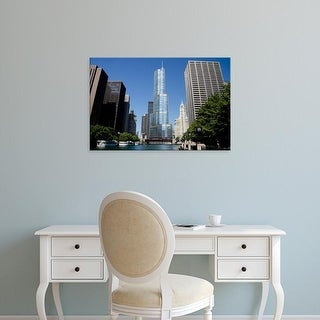 Easy Art Prints Cindy Miller Hopkins's 'Downtown Chicago' Premium Canvas Art