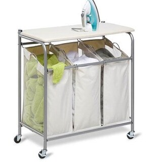 "Honey Can Do Srt-01196 16.5"" X 31"" X 33"" Ironing & Sorter Combo Laundry Center"