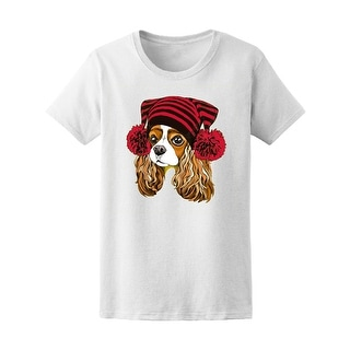Cute Dog In A Knitted Cap  Tee Women's -Image by Shutterstock