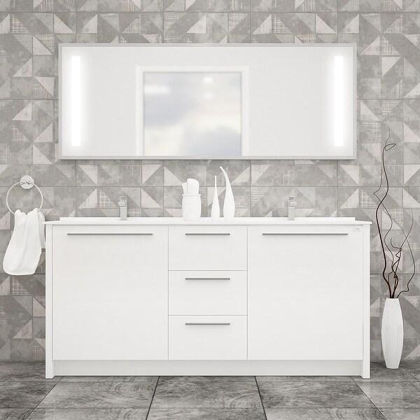 """Nona 71"""" Double Sink Freestanding Bathroom Vanity Set. Opens flyout."""