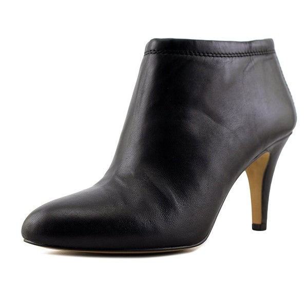 Vince Camuto Vessa Women Round Toe Leather Black Bootie