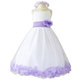 Flower Girl Dresses Rose Petal Wallao White (Baby - 14) Lilac Lavender
