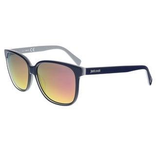 Just Cavalli JC645S/S 90L Navy Square Sunglasses - 58-14-140