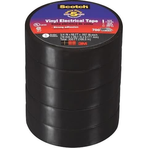 """Scotch 24413-BA-6 700 Vinyl Electrical Tape, 3/4"""" W x 66' L"""