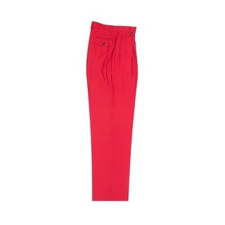 Tiglio Luxe Red Wide Leg, Pure Wool Dress Pants 2576