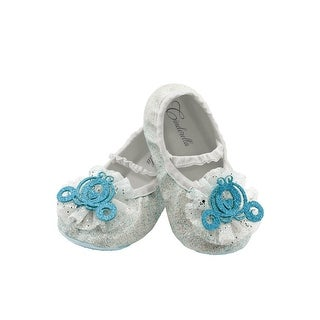 Disguise Cinderella Toddler Slippers - whote