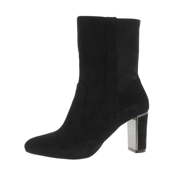 Tahari Womens Ciel Mid-Calf Boots Suede Covered