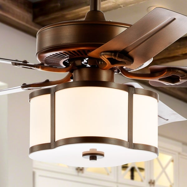 """Edith 52"""" 3-Light LED Ceiling Fan With Remote, by JONATHAN Y. Opens flyout."""