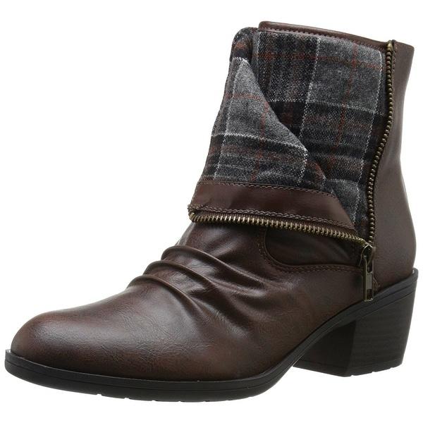 LifeStride Womens Watchful Fabric Closed Toe Ankle Fashion Boots
