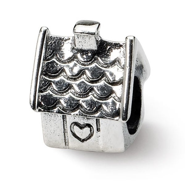 Sterling Silver Reflections House Bead (4mm Diameter Hole)